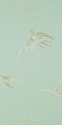 Swallows pebble dviwsw102 vintage sanderson tapeter - Sanderson swallows wallpaper pebble ...