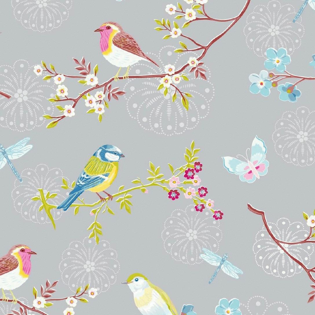 Pip Tapete Early Bird Rosa : Pip Studio Early Bird
